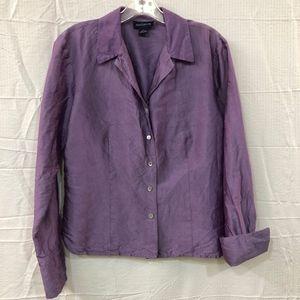 Ann Taylor Size 12 Silk Button Up Shirt